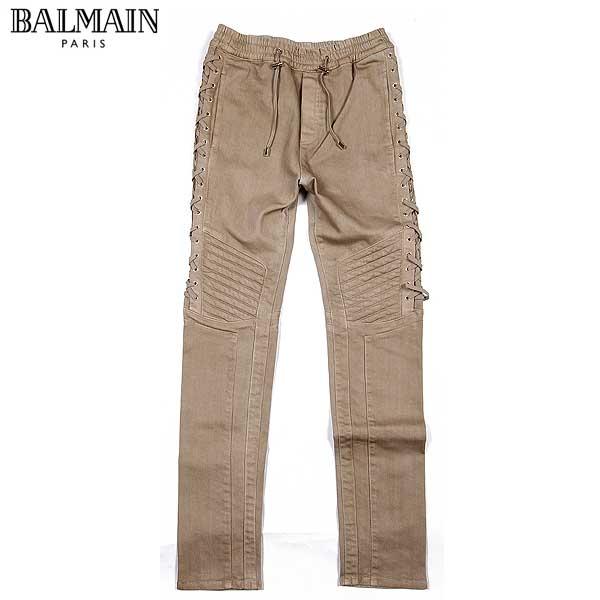 【送料無料】 バルマン(BALMAIN) メンズ レースアップ コットンパンツ S6H T520 D105L 102 【SALE1603】61S
