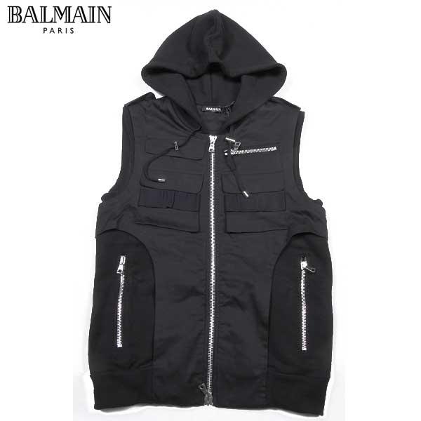 バルマン BALMAIN メンズ ジップアップ パーカーベスト S6H J820 B139 176 61S【送料無料】【smtb-TK】