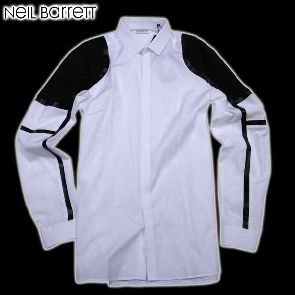 【送料無料】 ニールバレット (NeilBarrett) メンズ ドレスシャツ ワイシャツ PBCM524C A009S 526 【SALE1603】61S