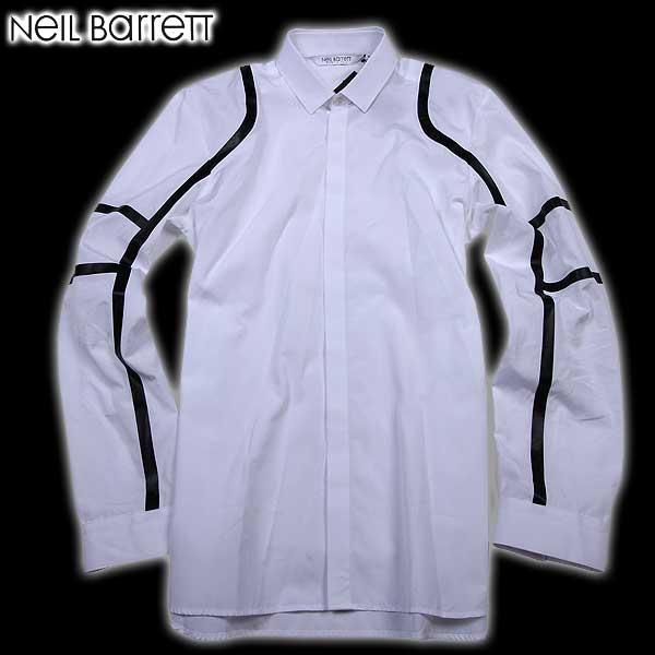 ニールバレット Neil Barrett メンズ ドレスシャツ ワイシャツ PBCM496C A001S 526 61S【送料無料】【smtb-TK】