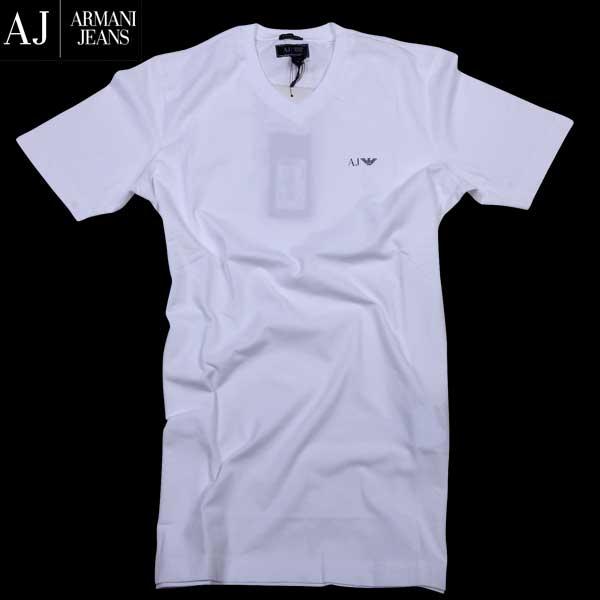 アルマーニジーンズ ARMANI-JEANS メンズ Vネック半袖 Tシャツ イーグルロゴ 06H29 DA 10 61S【送料無料】【smtb-TK】