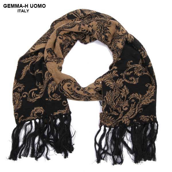 【送料無料】 GEMMA-HUOMO(ジャンマ アッカ ウォモ)ストール マフラー UTPL JQ16 SCIA 1_BLACK 61S