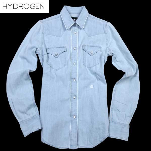 ハイドロゲン HYDROGEN レディース ダンガリーシャツ デニム 181542 043 61S【送料無料】【smtb-TK】