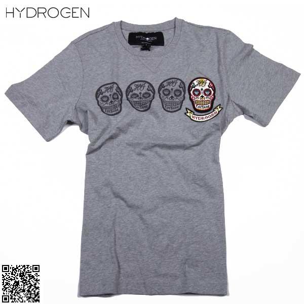 【送料無料】 ハイドロゲン(HYDROGEN) メンズ クルーネック 半袖 Tシャツ 180026 015 【smtb-tk】 61S