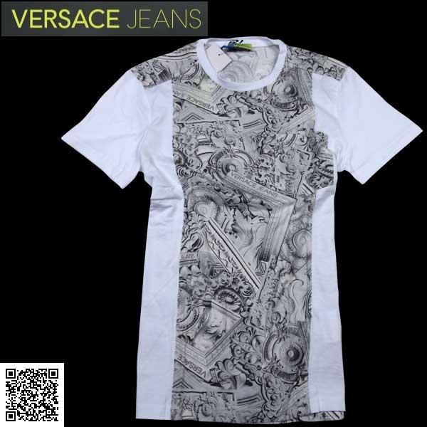 ヴェルサーチ Versace メンズ ストレッチ クルーネック 半袖 Tシャツ B3GNA708 11473 003 61S【送料無料】【smtb-TK】