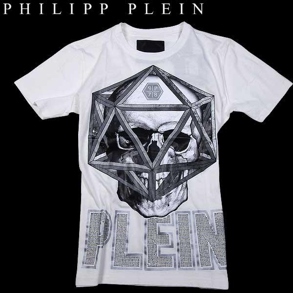 フィリッププレイン PHILIPP PLEIN メンズ クルーネック 半袖 Tシャツ