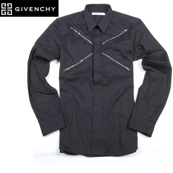 ジバンシー GIVENCHY メンズ ジップデザイン ドレスシャツ 6011 361 001 61S (R73700)【送料無料】【smtb-TK】