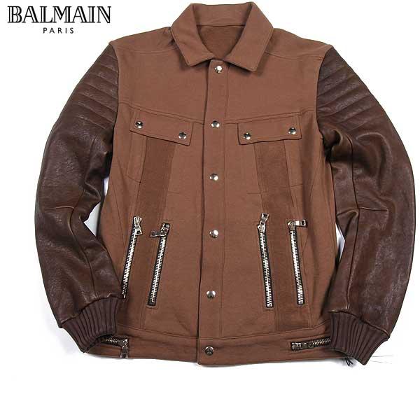 バルマン BALMAIN メンズ ラムスキンブルゾン ジャケット J261 D322C 161 61S【送料無料】【smtb-TK】