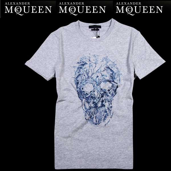 アレキサンダーマックイーン Alexander McQUEEN メンズ クルーネック 半袖 Tシャツ 174981 QCZ52 0902 61S (R33800) 【送料無料】【smtb-TK】