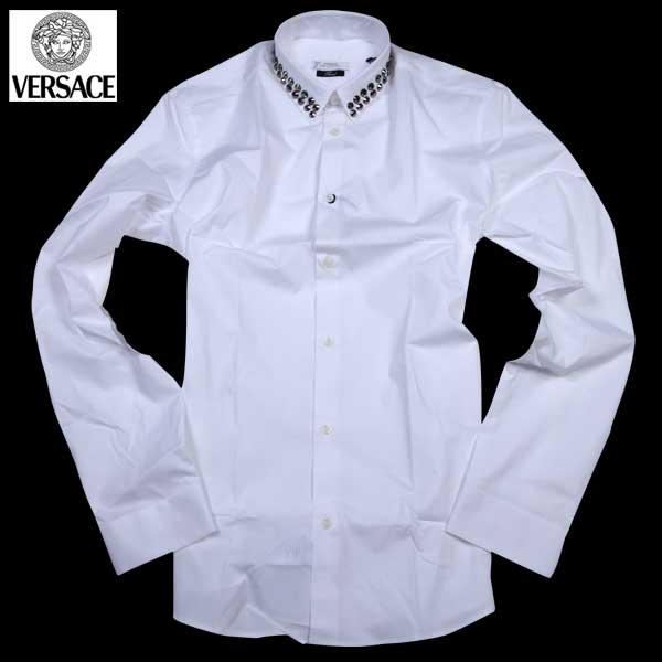 【送料無料】 ヴェルサーチコレクション(VERSACE) メンズ ドレスシャツ ワイシャツ V300215 VT00027 V1001 【smtb-tk】 61S