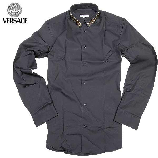 【送料無料】 ヴェルサーチコレクション(VERSACE) メンズ ドレスシャツ ワイシャツ V300215 VT00027 V1008 【smtb-tk】 61S