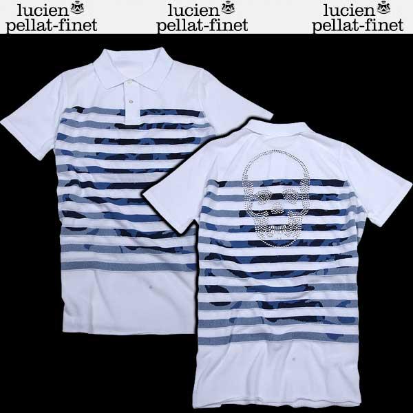 ルシアン ペラフィネ lucien pellat-finet メンズ 半袖 シャツ AT2205H WHITE A0001 /COL2 BLUE DB61S【送料無料】【smtb-TK】