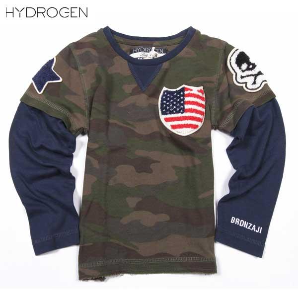 ハイドロゲン HYDROGEN キッズ ブロンザージ ロング Tシャツ 長袖 14B008 397 DB14S