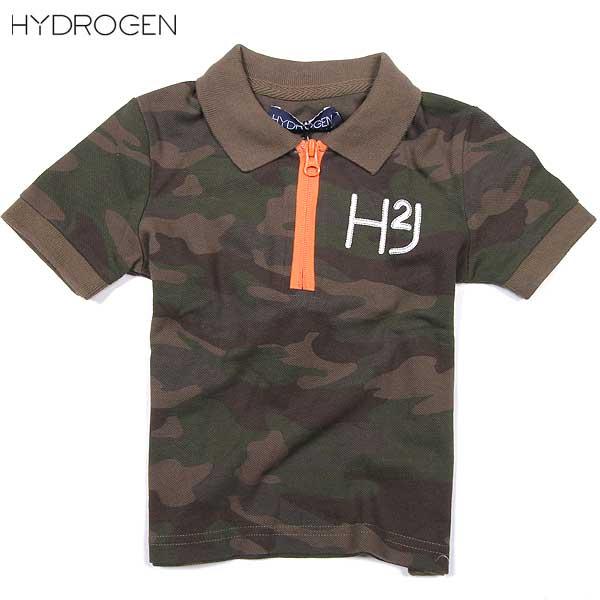 ハイドロゲン HYDROGEN キッズ 半袖 シャツ 142616 MIMETICO VERDE DB14S