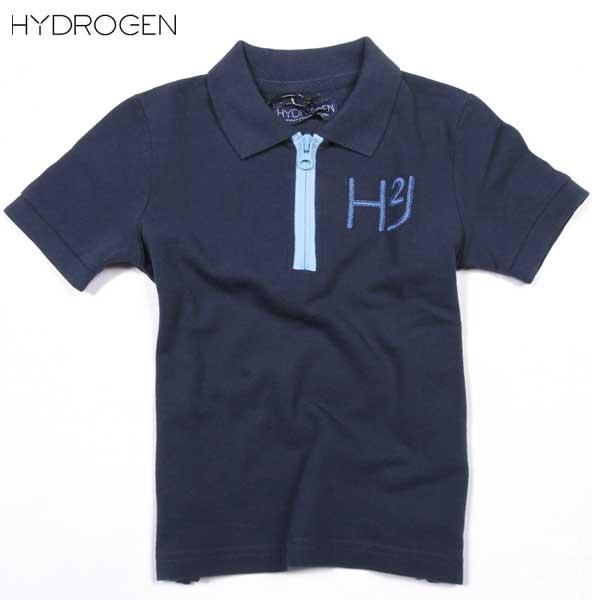 ハイドロゲン(HYDROGEN) キッズ(ジュニア) 半袖ポロシャツ 142616 013 DB14S