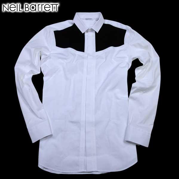 ニールバレット Neil Barrett メンズ ドレスシャツ ワイシャツ PBCM601C B001C 526 61A【送料無料】【smtb-TK】