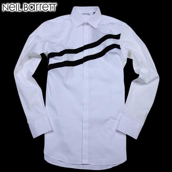 ニールバレット Neil Barrett メンズ ドレスシャツ ワイシャツ PBCM602C B046C 1164 61A (R64600)【送料無料】【smtb-TK】