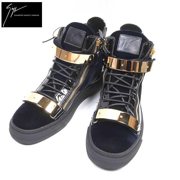 ジュゼッペザノッティ GIUSEPPE ZANOTTI メンズ レザーハイカットシューズ 靴 RU6034 001 NAVY 61A【送料無料】【smtb-TK】