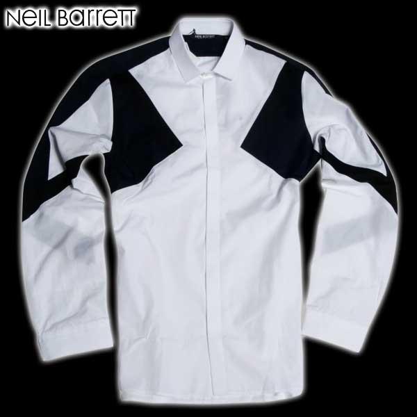 【送料無料】 ニールバレット (NeilBarrett) メンズ ドレスシャツ BCM624V B136C 1289 【smtb-TK】 61A