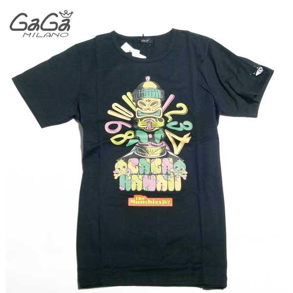 ガガミラノ GaGaMILANO メンズ 半袖 Tシャツ GA-0042T BLK GaGa61A (R19440)【送料無料】【smtb-TK】