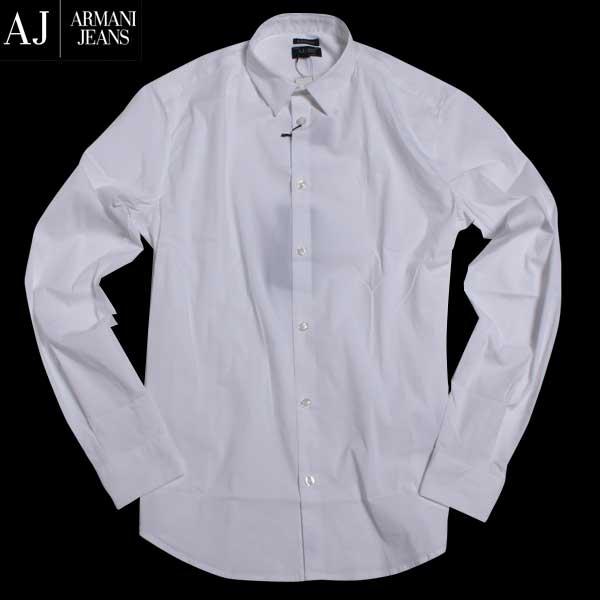 【送料無料】 アルマーニジーンズ(ARMANI-JEANS) メンズ ストレットコットンシャツ 8N6C09 6N06Z 1100 【smtb-TK】 【SALE1609】 61A
