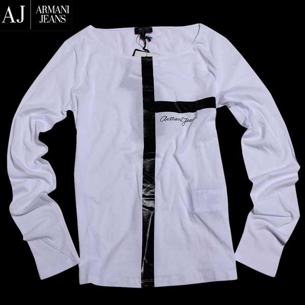 アルマーニジーンズ ARMANI-JEANS レディース ロング Tシャツ 長袖 カットソー 6X5T56 5JPXZ 1100 61A (R12960) 【送料無料】【smtb-TK】