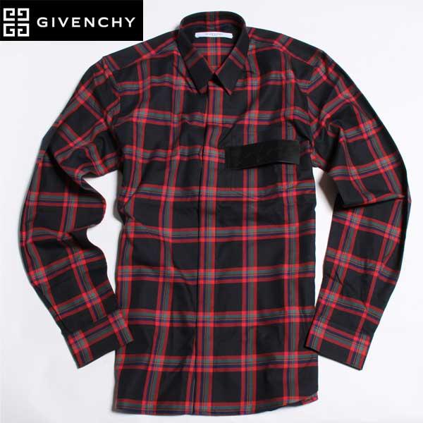 【送料無料】 ジバンシー(GIVENCHY) メンズ スターデザイン赤チェックシャツ 16F-6029-417 600 【smtb-TK】 【SALE1609】 61A
