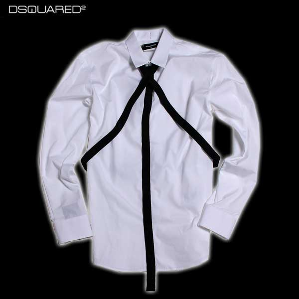 ディースクエアード DSQUARED2 メンズ ドレスシャツ S74DL0921 S36275 100 61A (R63720)【送料無料】【smtb-TK】