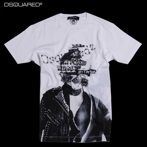 【送料無料】 ディースクエアード(DSQUARED2) メンズ Tシャツ 半袖 S74GD0145 S22844 100 【smtb-TK】 【SALE1609】 61A