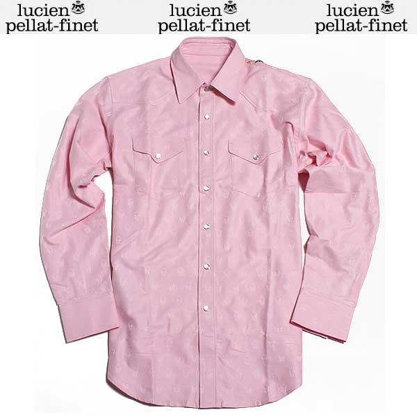 ルシアン ペラフィネ lucien pellat-finet メンズ コットンシャツ KO 20H L.PINK DB61A (R55799)【送料無料】【smtb-TK】