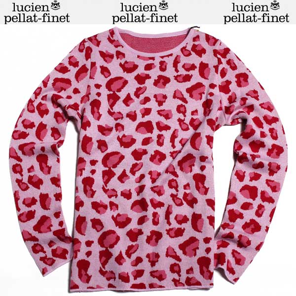 ルシアン ペラフィネ lucien pellat-finet レディース カシミヤ セーター AT2303F PINK DB61A【送料無料】【smtb-TK】