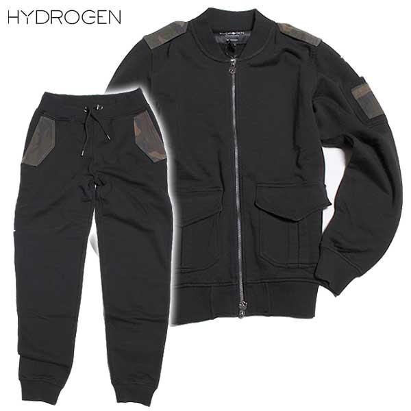 ハイドロゲン HYDROGEN メンズ トラックジャケット スウェット パンツ セットアップ 上下組 190620+190614 007 DB61A【送料無料】【smtb-TK】