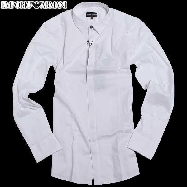 エンポリオアルマーニ EMPORIO-ARMANI メンズ ドレスシャツ ワイシャツ 6X1C2A 1JANZ 0100 61A【送料無料】【smtb-TK】