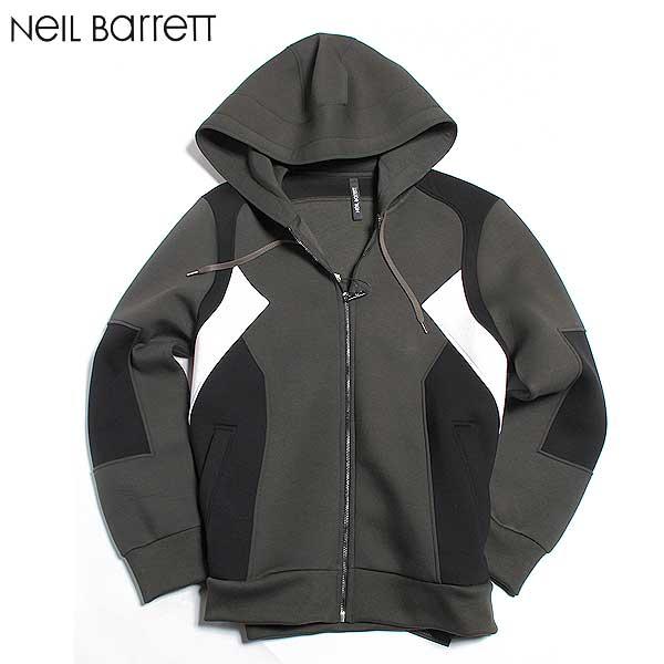 ニールバレット Neil Barrett メンズ ジップアップ パーカー BJS164V B525C 1304 61A (R109080)【送料無料】【smtb-TK】