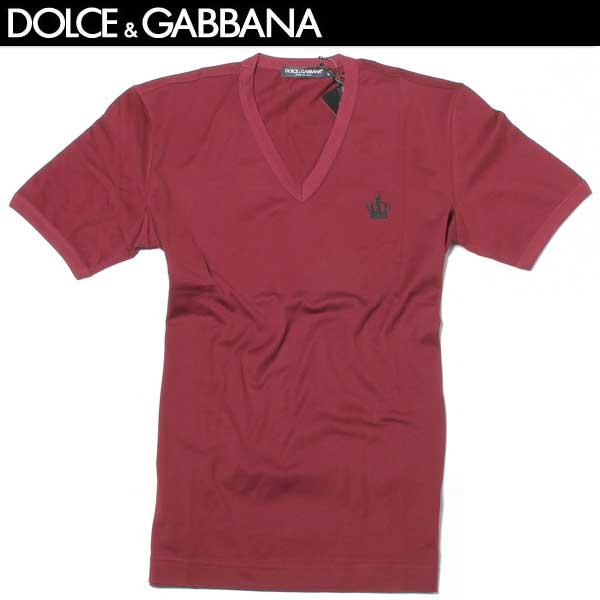 ドルチェ&ガッバーナ DOLCE&GABBANA メンズ Vネック 半袖 Tシャツ G8FV6T G7HCH R0369 61A【送料無料】【smtb-TK】