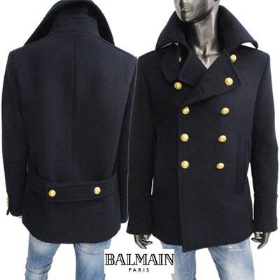 バルマン BALMAIN メンズ ウール コート W6HT884 D541 159 61A【送料無料】【smtb-TK】