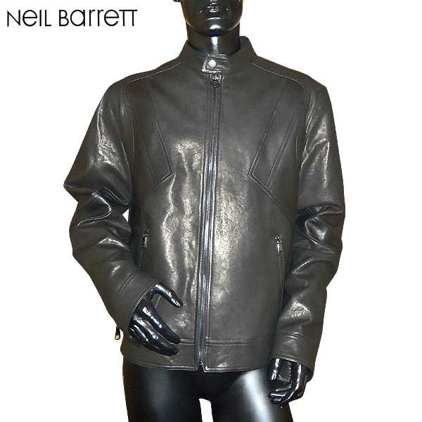 ニールバレット Neil Barrett メンズ レザー ジャケット PBPE466C E700C 01 71S【送料無料】【smtb-TK】