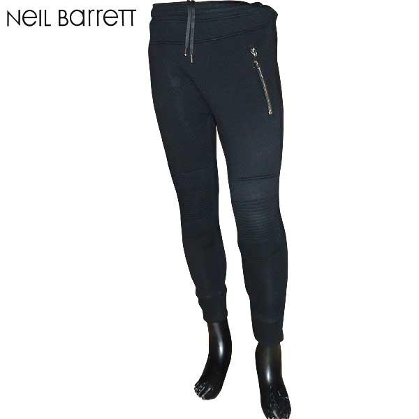 【送料無料】 ニールバレット (NeilBarrett)メンズ スーパースキニーフィット ライダース ジョガーパンツ スウェット PBJP02H E500 01 【smtb-TK】 71S【SALE1701】