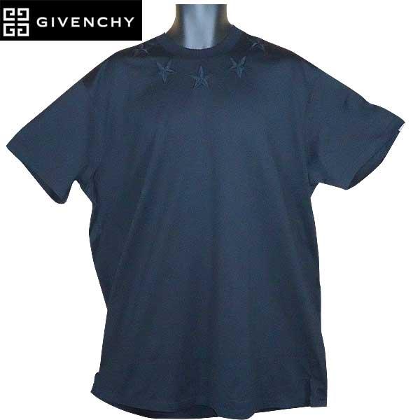 ジバンシー GIVENCHY メンズ スターパッチ 半袖 Tシャツ ブラック/ブラック 17S7000 651 001 71S【送料無料】【smtb-TK】
