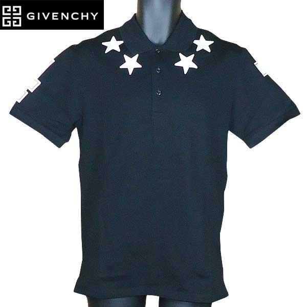 ジバンシー GIVENCHY メンズ スターパッチ 半袖 シャツ ブラック/ホワイト 17S7100 700 001 71S【送料無料】【smtb-TK】