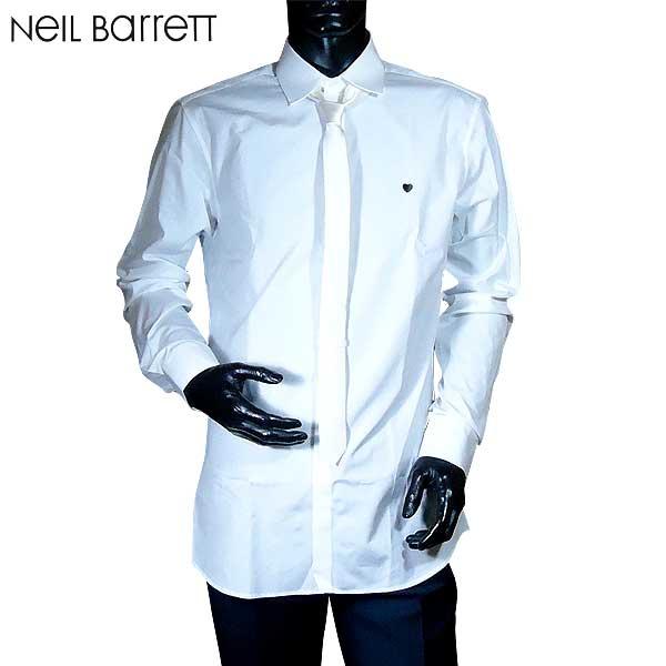 ニールバレット Neil Barrett メンズ コットン ドレスシャツ ワイシャツ ネクタイ付 PBCM657C E037S 03 71S【送料無料】【smtb-TK】