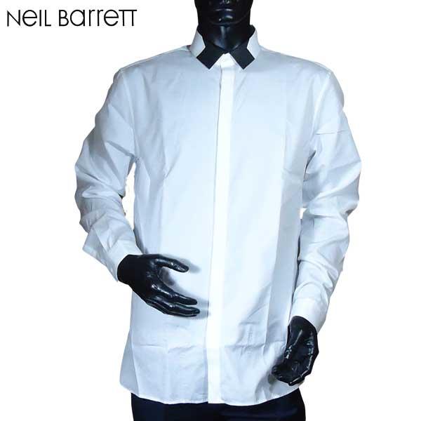 ニールバレット Neil Barrett メンズ コットン ドレスシャツ ワイシャツ PBCM655S E029S 1370 71S【送料無料】【smtb-TK】