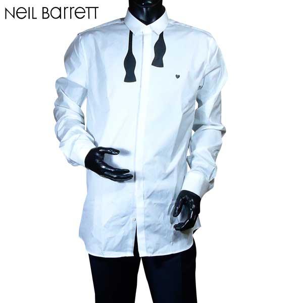 【送料無料】 ニールバレット (NeilBarrett)メンズ コットン ドレスシャツ ワイシャツ PBCM30S E040S 526 【smtb-TK】 71S【SALE1701】