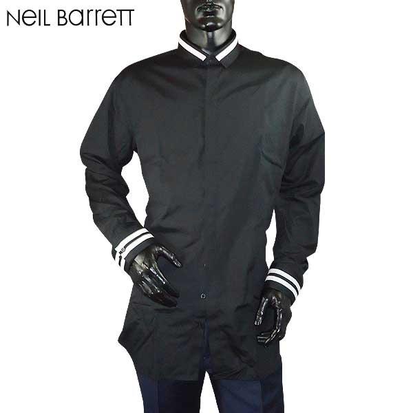 ニールバレット Neil Barrett メンズ コットン ドレスシャツ ワイシャツ PBCM667N E033 524 71S【送料無料】【smtb-TK】