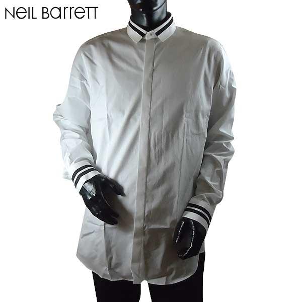 【送料無料】 ニールバレット (NeilBarrett)メンズ コットン ドレスシャツ ワイシャツ PBCM667N E033 526 【smtb-TK】 71S【SALE1701】