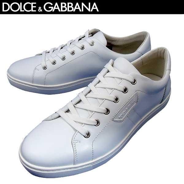 ドルチェ&ガッバーナ DOLCE&GABBANA メンズ レザー スニーカー 靴 CS1362 A3444 80001 71S【送料無料】【smtb-TK】