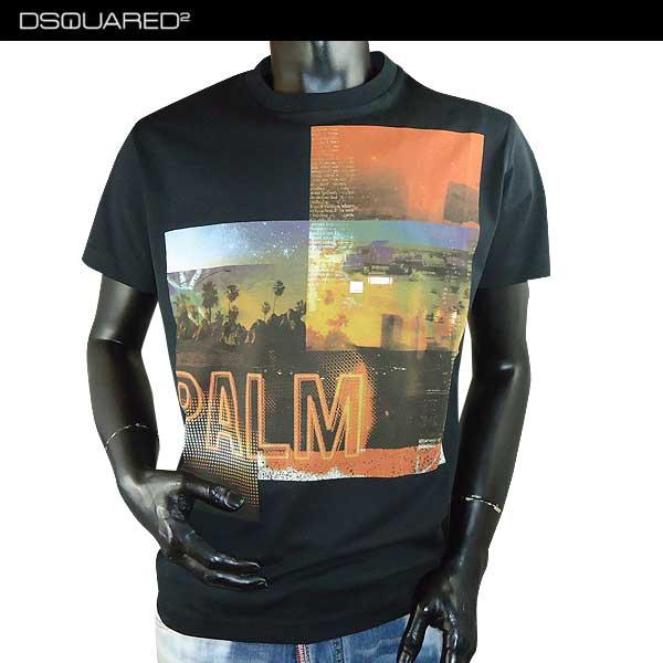 【送料無料】 ディースクエアード(DSQUARED2)メンズ クルーネック 半袖 Tシャツ S74GD0222 S22844 900 【smtb-TK】 71S
