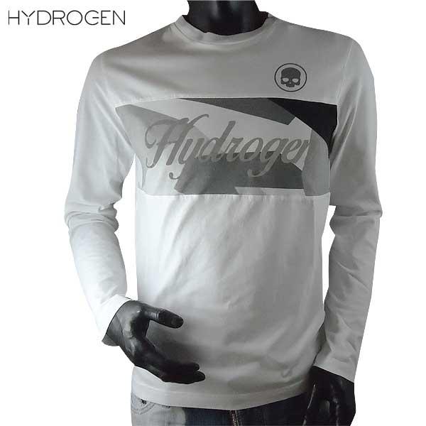 ハイドロゲン HYDROGEN メンズ 長袖 ロング Tシャツ ホワイト/グレー迷彩 200620 A75 71S【送料無料】【smtb-TK】