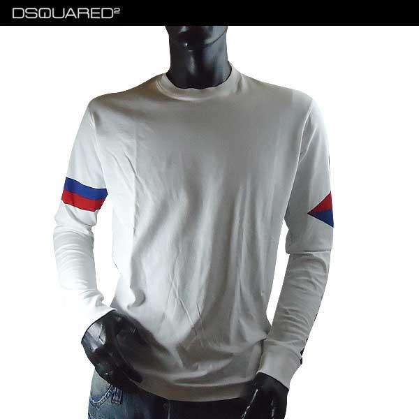 ディースクエアード DSQUARED2 メンズ クルーネック ロンT 長袖 Tシャツ S74GD0218 S22427 100 71S【送料無料】【smtb-TK】