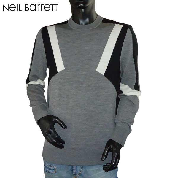 ニールバレット Neil Barrett メンズ ウール セーター 長袖 カットソー PBMA534J E605C 1654 71S (R76500)【送料無料】【smtb-TK】